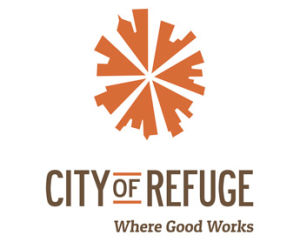 city of refuge logo where good works